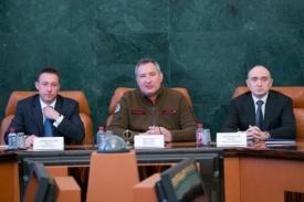 Дмитрий Рогозин Борис Дубровский Игорь Холманских|Фото: gubernator74.ru