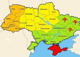 Карта распада, Украина|Фото: