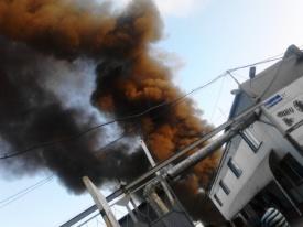 дым в районе ЧТЗ|Фото: vk.com