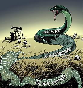 Карикатура на пул компаний составляющих Blackwater|Фото: