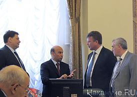 семинар по межнациональным отношениям полпредства, Силин, Шумков, Ермошин, Сарычев|Фото: Накануне.RU