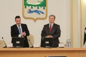 Игорь Холманских и Алексей Кокорин|Фото: пресс-служба губернатора Курганской области