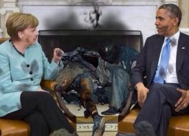 Меркель, Обама, соженные трупы, Одесса|Фото: