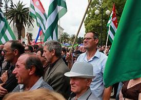 Сухум, митинг, оппозиция, администрация президента|Фото: alfanews.com.ua