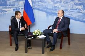 Медведев и Дубровский|Фото: gubernator74.ru