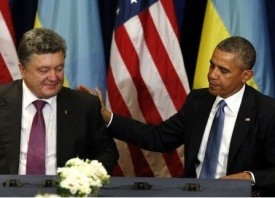 Порошенко, Обама Фото: