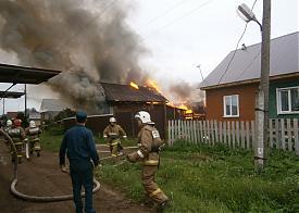 Пожар в Чернушке, Перпмский край|Фото: 59.mchs.gov.ru