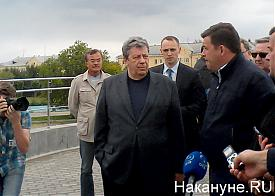 Куйвашев, Чернецкий, стадион Уралмаш Фото: Накануне.RU