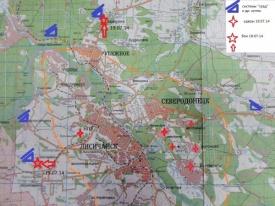 Лисичанск, карта|Фото:colonelcassad.livejournal.com