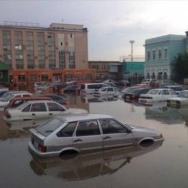 Жд вокзал Челябинск после ливня|Фото: Аэлита Перевалова