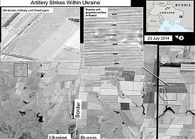 спутниковый снимок, град, обстрел, Украина, граница|Фото: twitter.com