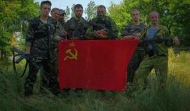 ополченцы, лнр, днр, красное знамя|Фото:colonelcassad.livejournal.com