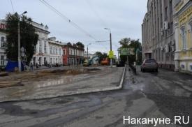 Курган улица Куйбышева ремонт дороги|Фото: Накануне.RU