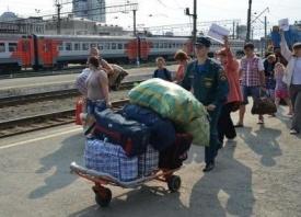 беженцы, вокзал, Екатеринбург|Фото: ГУ МВД России по Свердловской области