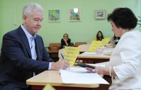 Собянин голосование Фото: mos.ru