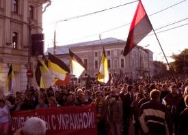 марш мира, марш предателей, националист, правый сектор, флаг|Фото: rusnsn.info
