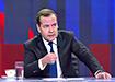 Телеинтервью премьер-министра России Дмитрия Медведева (2019) | Фото: youtube.com