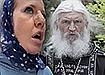Ксения Собчак и схиигумен Сергий Романов. (2020) | Фото: Накануне.RU/Telegram-канал Кровавая барыня