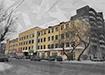 Коллаж, конструктивистское здание ПРОМЭКТа на ул. Декабристов, 20 (2020) | Фото: Накануне.RU