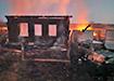 Пожар в Горноуральском городском округе, д. Бызова, ул. Рябиновая (2021)   Фото: ГУ МЧС России по Свердловской области