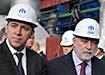 Евгений Куйвашев и Виктор Вексельберг на Уральском турбинном заводе (УТЗ) (2021) | Фото: Накануне.RU