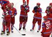 Сборная России по хоккею после игры с Канадой на Олимпиаде в Ванкувере|Фото: AFP