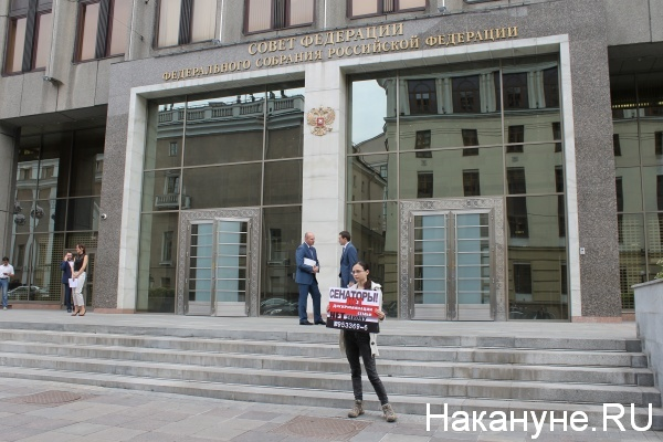 Совет Федерации, пикет, криминализация семьи|Фото: nakanune.ru