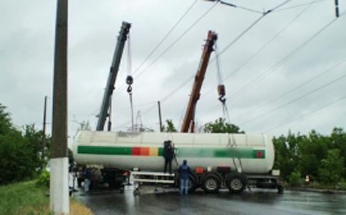 цистерна пропана грузовик Фото: МЧС по Свердловской области