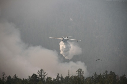 лесной пожар тушение самолет|Фото: ГУ МЧС РФ по Иркутской области