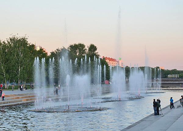 Фонтан в Историческом сквере Екатеринбург|Фото: мэрия Екатеринбурга