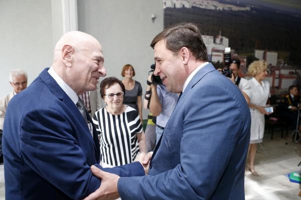 Евгений Куйвашев, Семен Спектор|Фото: Департамент информационной политики губернатора