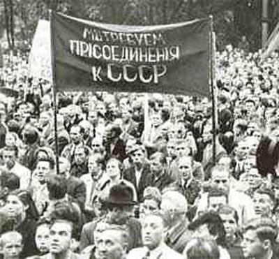 Демонстрации в Каунасе, Риге и Таллине. Июль 1940 года, Прибалтика Фото: