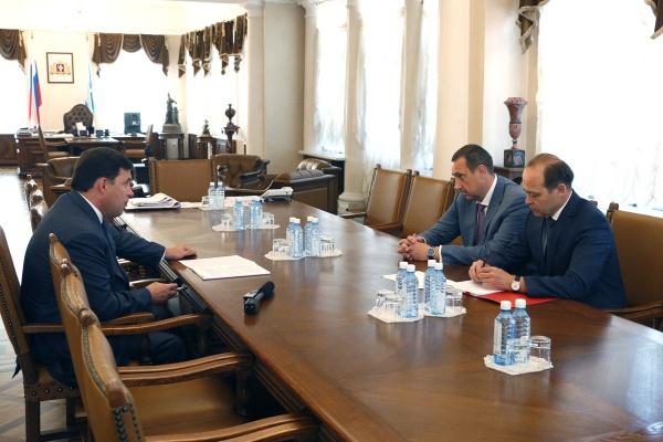 Евгений Куйвашев, Владимир Серов|Фото: Департамент информационной политики губернатора