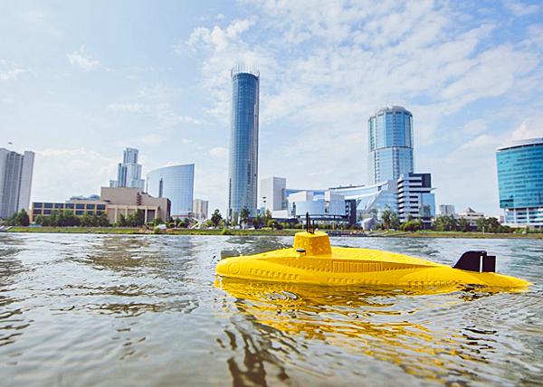 Желтая подлодка на Городском пруду, Екатеринбург|Фото: мэрия Екатеринбурга