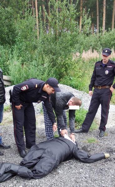 следственный эксперимент, таксист, обезглавленная девушка Фото: СУ СКР по СО