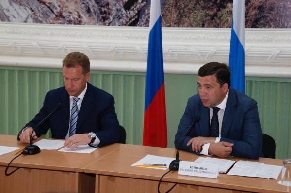 Игорь Шувалов, Евгений Куйвашев|Фото: Департамент информационной политики губернатора