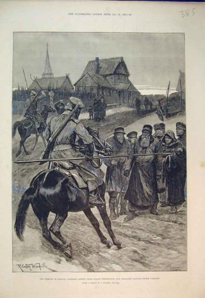 Казаки не дают крестьянам покинуть деревню чтобы пойти с сумой|Фото: scisne.net