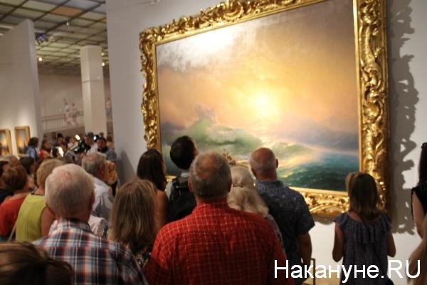 Иван Айвазовский, выставка, Третьяковка, галерея, очередь Фото: nakanune.ru