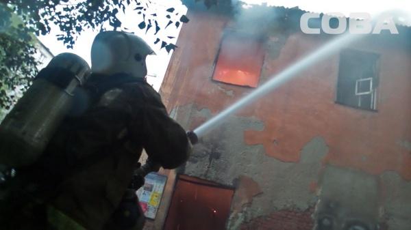пожар Бажова Екатеринбург|Фото: служба спасения СОВА