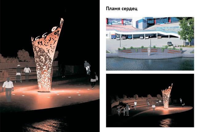 вариант олимпийской скульптуры, которую поставят у ДИВСа|Фото: мэрия Екатеринбурга