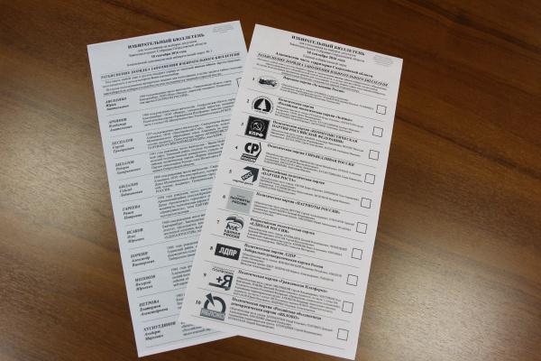 бюллетень, выборы, законодательное собрание Свердловской области|Фото: избирательная комиссия Свердловской области