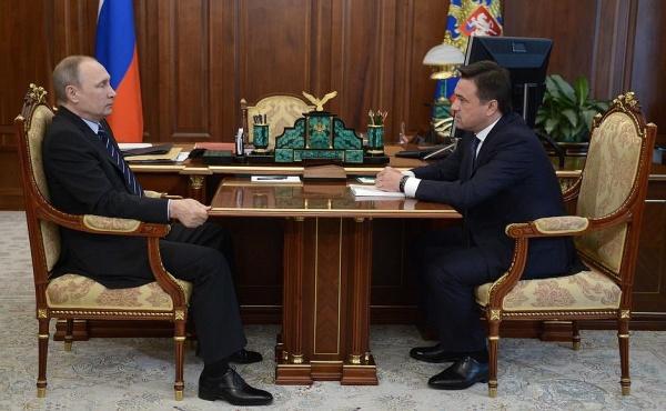 Владимир Путин Андрей Воробьев(2016)|Фото: пресс-служба президента РФ