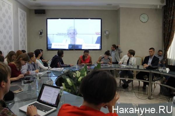 Ольга Васильева, час с министром|Фото: Накануне.RU