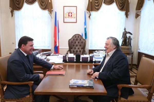 Евгений Куйвашев Александр Проханов|Фото: ДИП губернатора Свердловской области