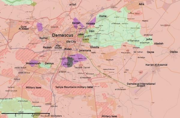 Сирия, карта, Дарайя, Дамаск|Фото: