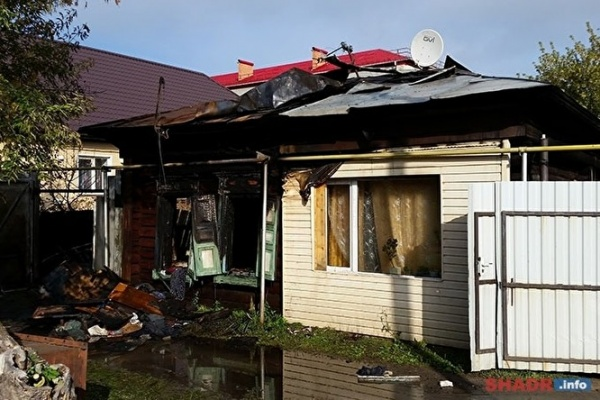 пожар, дом, Шадринск|Фото:shadr.info