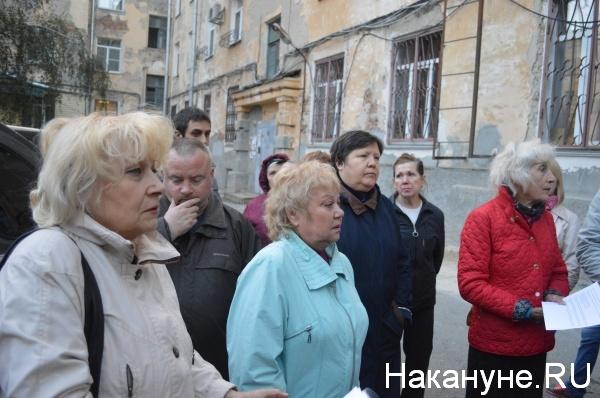 жители дома по Гоголя, 42|Фото:Накануне.RU