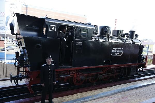 открытие детской железной дороги, паровоз|Фото: Департамент информационной политики губернатора СО