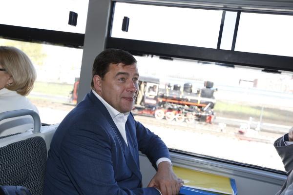 Евгений Куйвашев, открытие детской железной дороги|Фото: Департамент информационной политики губернатора СО