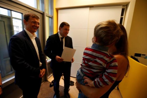 Евгений Куйвашев, школа, дети Фото: Департамент информационной политики губернатора СО